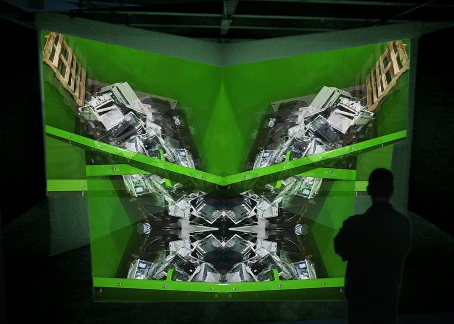 Danial Nord, Fate Machine, installation for Fringe Exhibitions, Los Angeles, CA. 21' x 23' x 8', 2008 ©Danial Nord