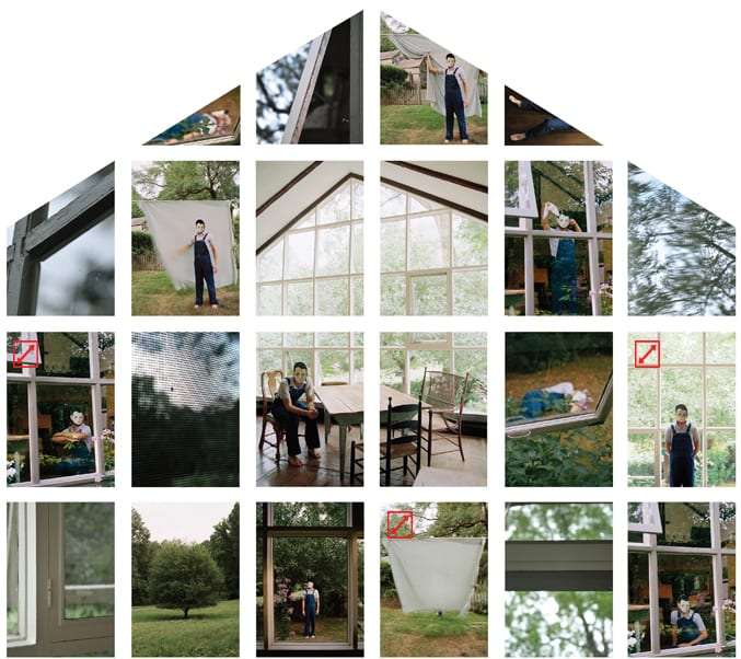 Gorky and the Glass House, 2010, 22 inkjet prints, 8' x 9'.