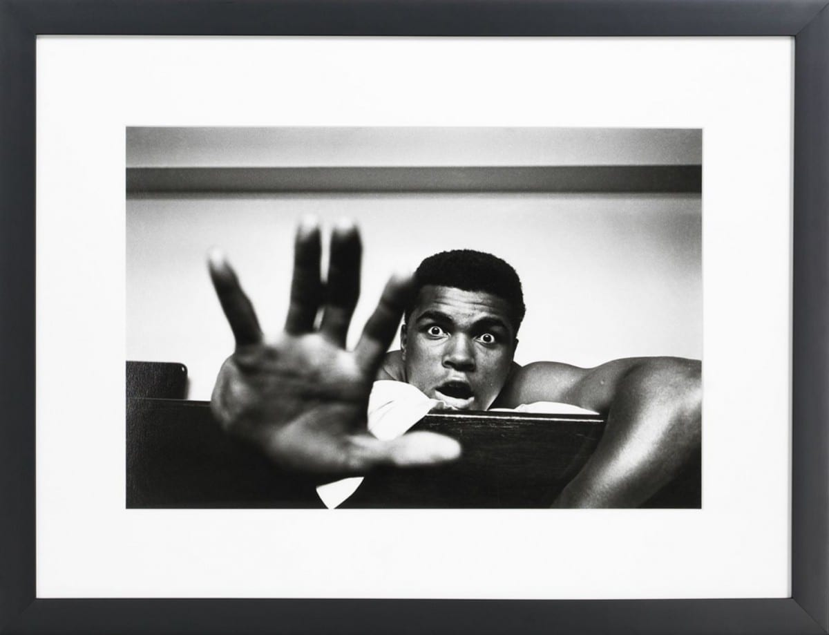 Len Trievnor, Give Me Five Muhammad Ali, gelatin silver print on archival fiber paper, 1963 ©Ralph Lauren Home and Getty Images
