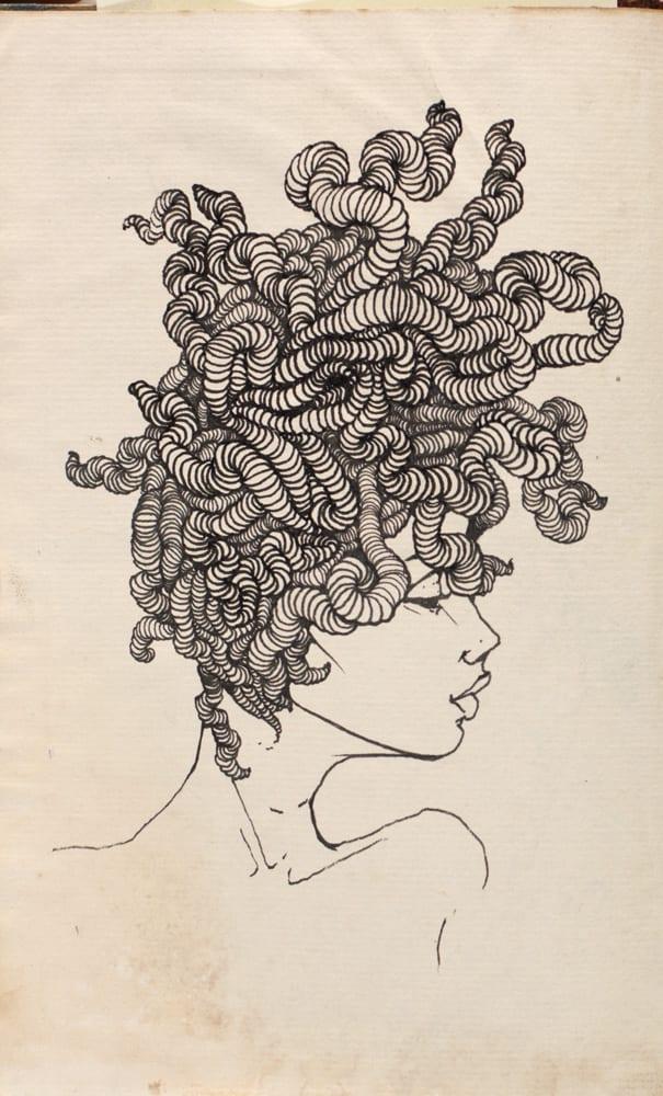 """Brandon Boyd """"Worm Hair Girl.""""  From """"So the Echo"""" © Brandon Boyd"""
