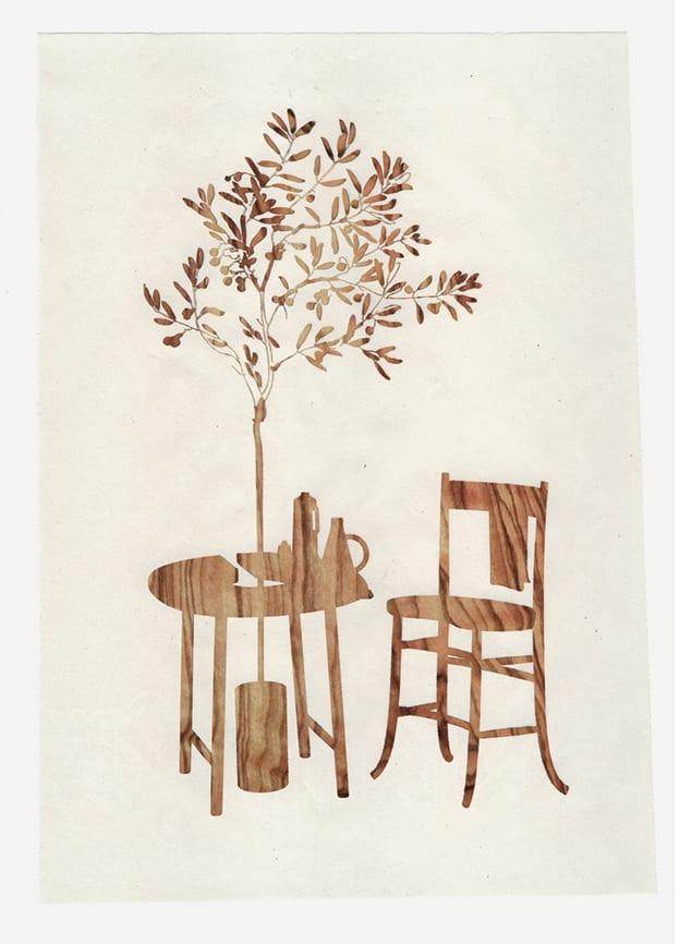 Taste of Wood, Mood on Paper