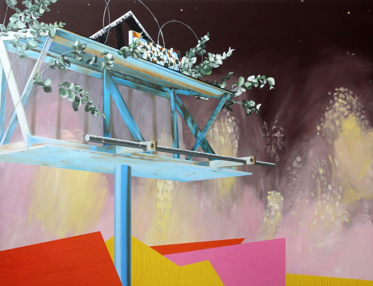 "Lisa Adams, Drowning Out All Birdsong, oil on canvas over panel, 65"" x 84"", 2013  Courtesy of the artist and CB1 Gallery"