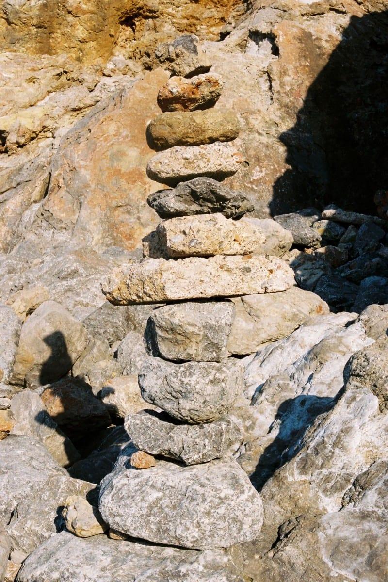 Emma Le Doyen, Stone Cairn, Extract from LA Còte d'Azur, 2012