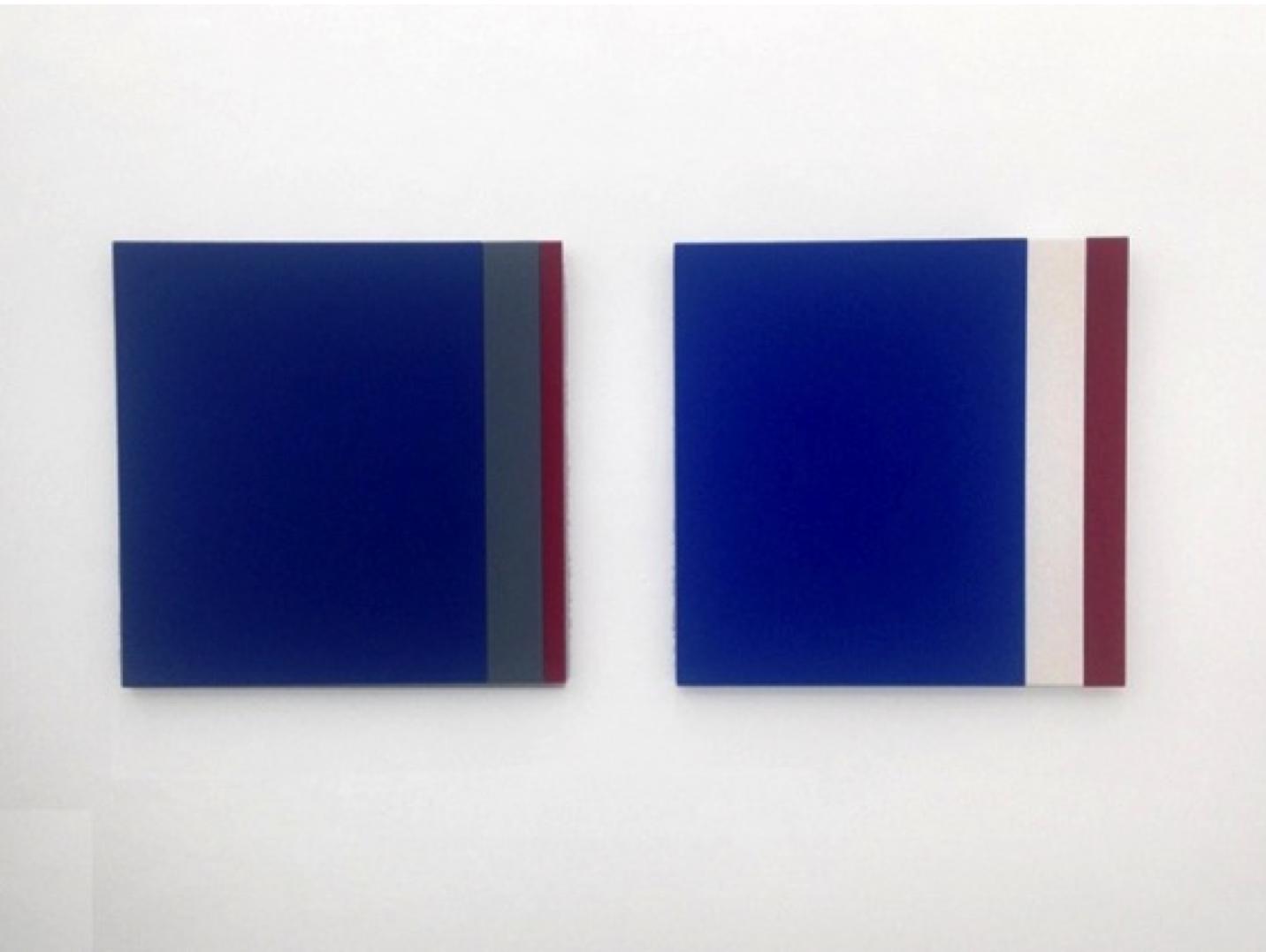 Emilio Chapela, Nasa - Pockocmoc, lacquer on wood, 50 x 50 cm ea, 2013