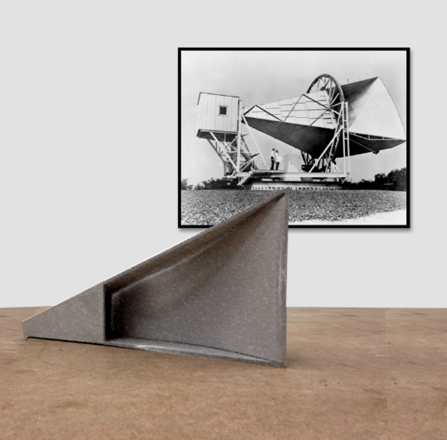 Emilio Chapela, Holmdel Antenna, lámina de fierro, impresión digital, ed. 1 + AP, 2014