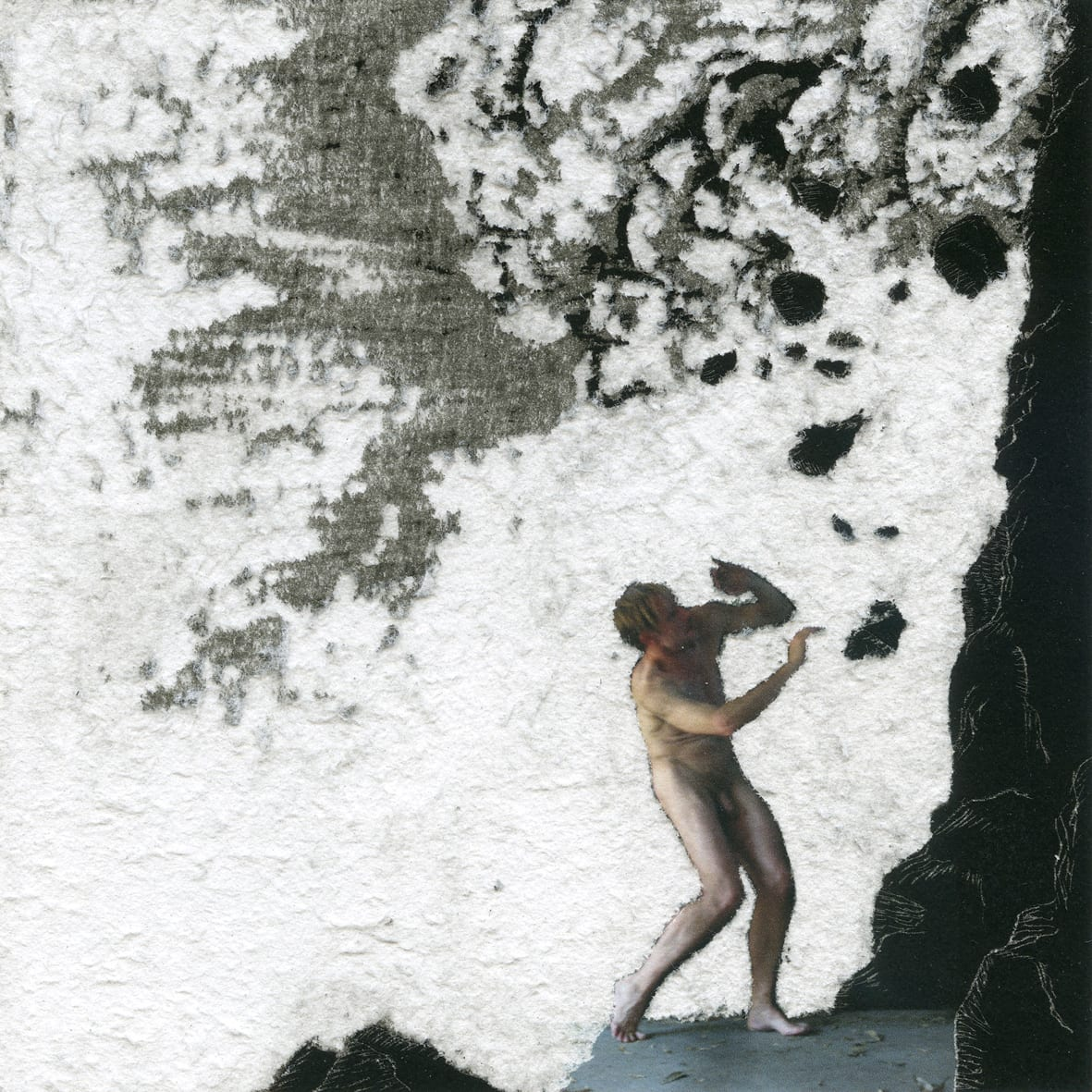 Henri van Noordenburg, Composition XXIX, ink on paper hand carved, 17.5 cm x 17.5 cm framed, 2013