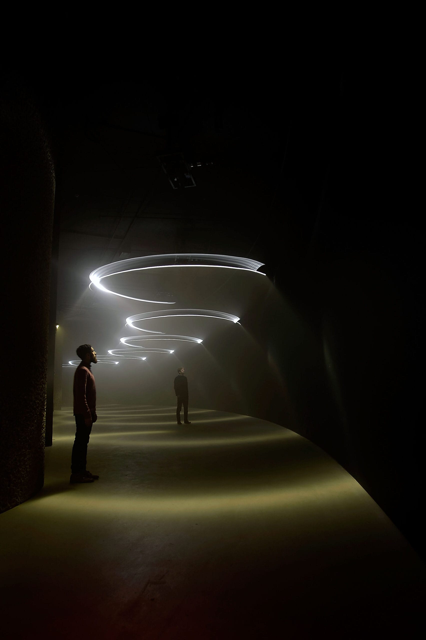 United Visual Artists: Momentum The Curve, Barbican Centre, 13 February – 1 June 2014, Installation images, © Bethany Clark/Getty Images Courtesy Barbican Art Gallery