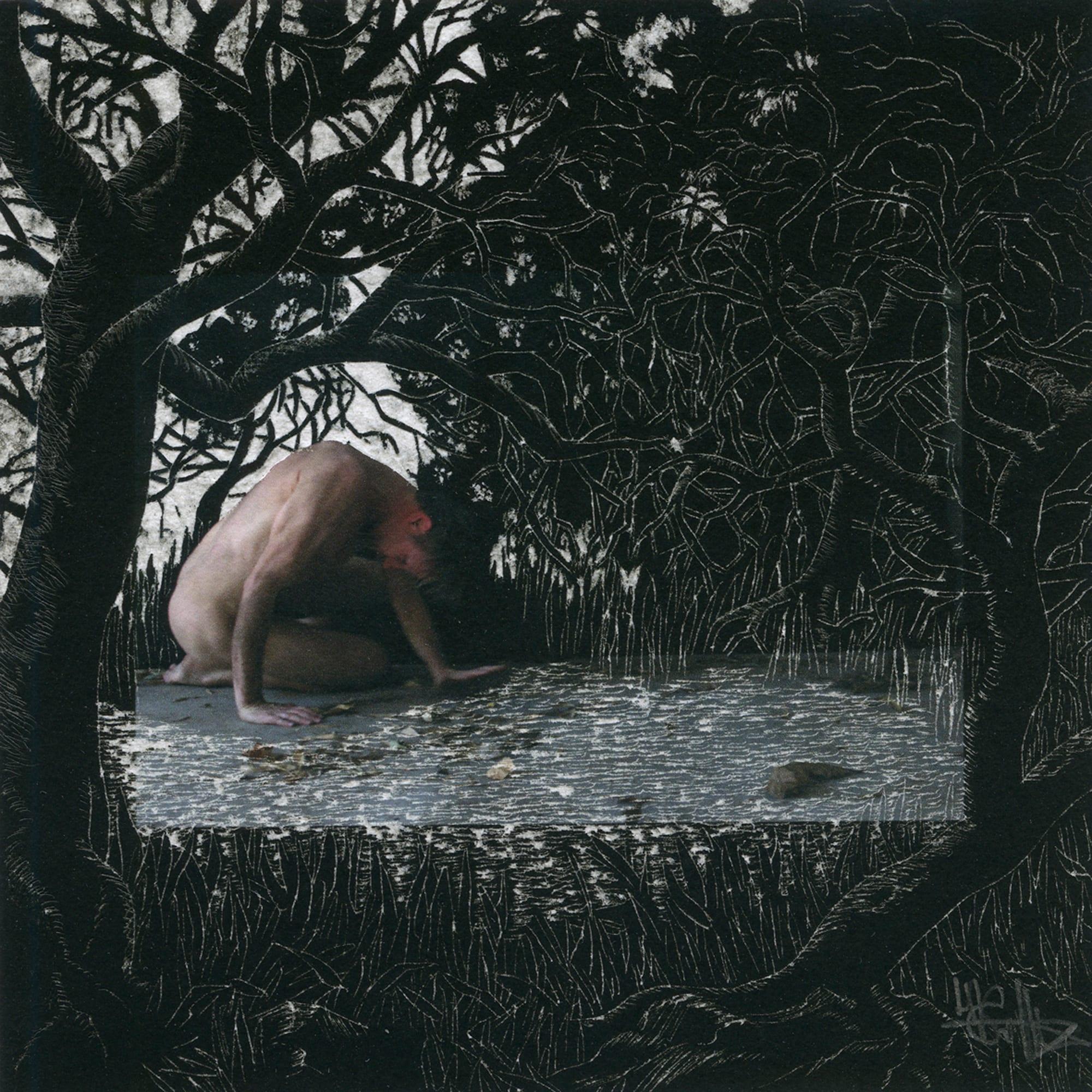 Henri van Noordenburg, Composition XXVII, ink on paper hand carved, 17.5 cm x 17.5 cm framed, 2013
