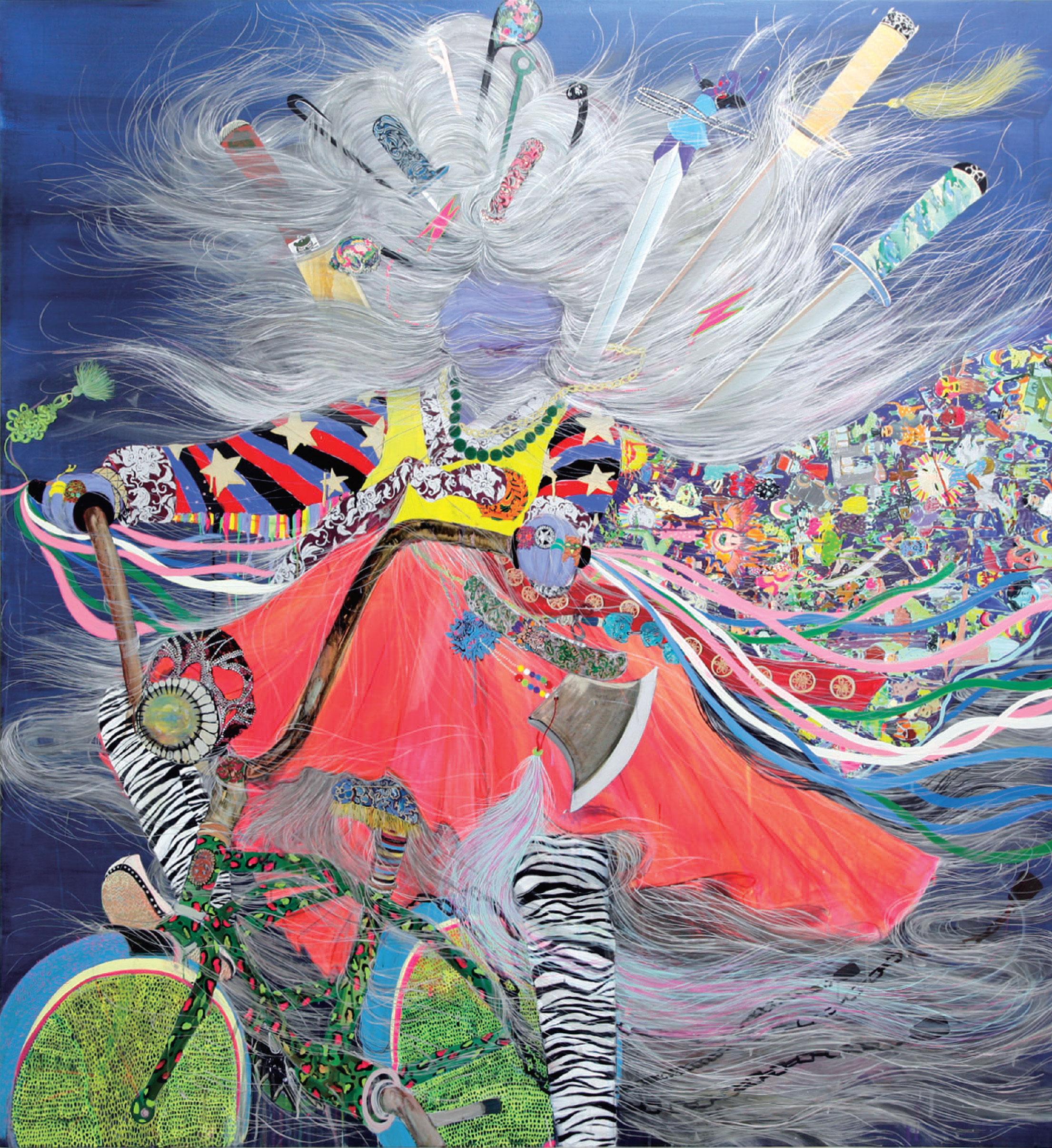 "Hyon Gyon Park, Iyo Iyo, acrylic on panel, 70.9"" x 66.1"", 2008"