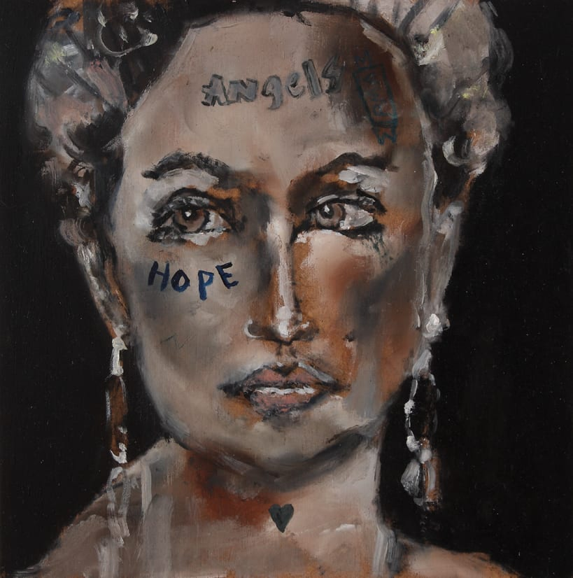 Sam Jackson, Hope, oil on board, 20 x 20 cm, 2014