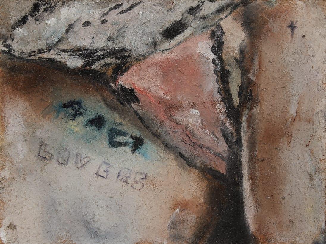 Sam Jackson, It Will Happen, oil on board, 11 x 15 cm, 2014