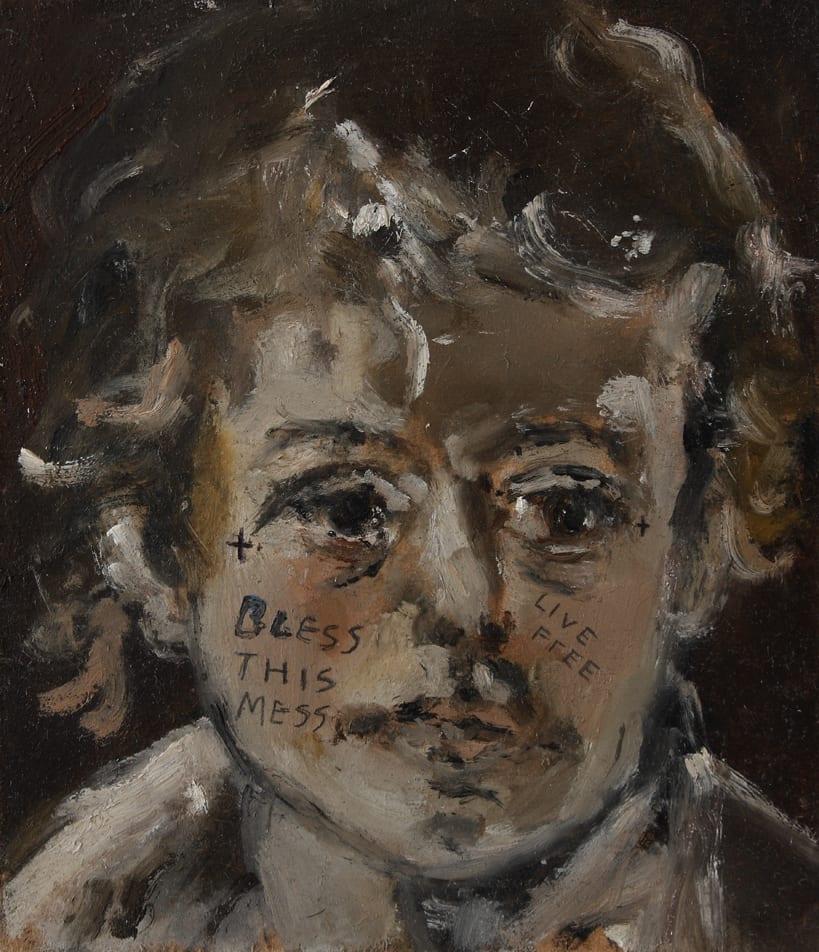 Sam Jackson, Never Look Back, oil on board, 17.5 x 15 cm, 2014