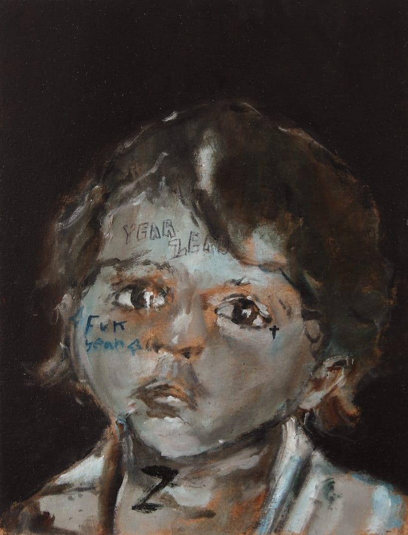Sam Jackson, Yar Zero (The Blue Boy), oil on board, 26 x 19.5 cm, 2014