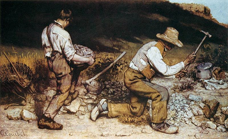 After: Gustave Courbet's The Stone Breakers (1849-50)