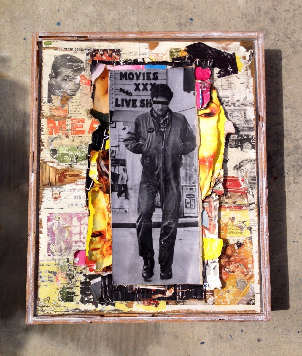 """Jimmy Ray Flynn, Untitled 4              Mixed Media Collage 26"""" x 36"""", 2013"""