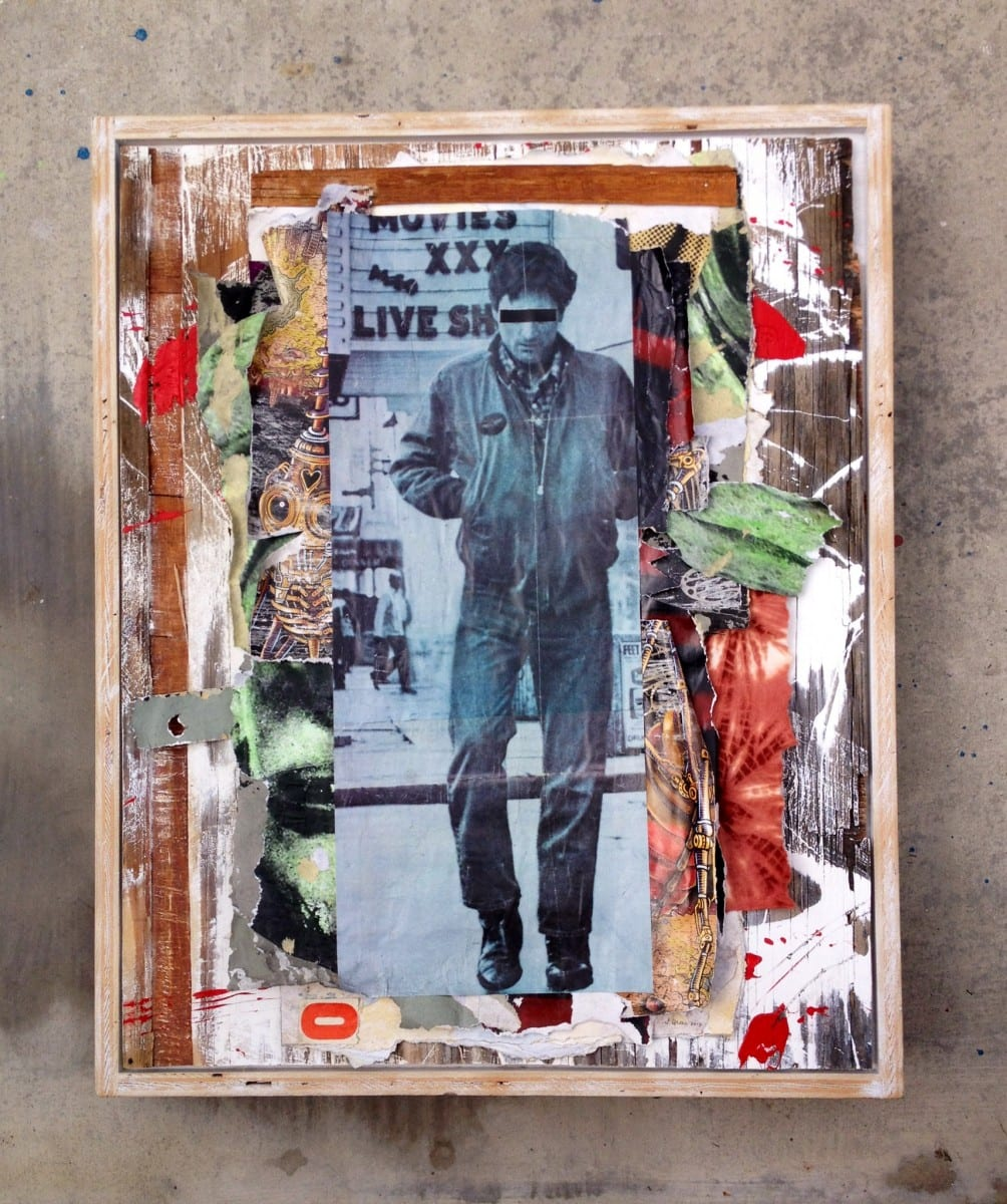 """Jimmy Ray Flynn, Untitled 3,               Mixed Media Collage 26"""" x 36"""", 2013"""