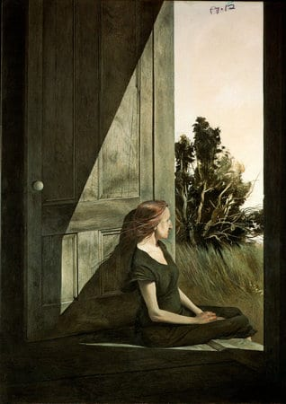 After: Andrew Wyeth's Christina Olson (1947) and an illustration by Ed Valigursky