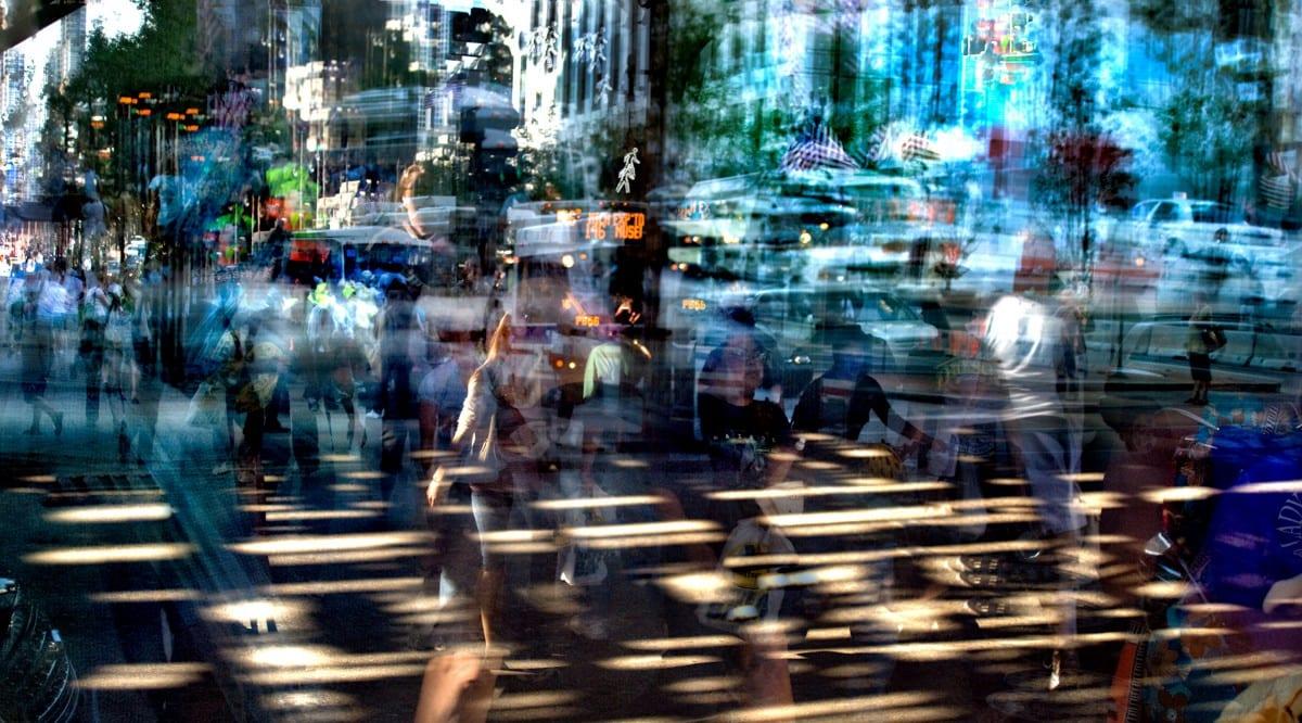 "Darryll Schiff, Chicago Loop 4,  photography, 60"" x 108"", 2010"