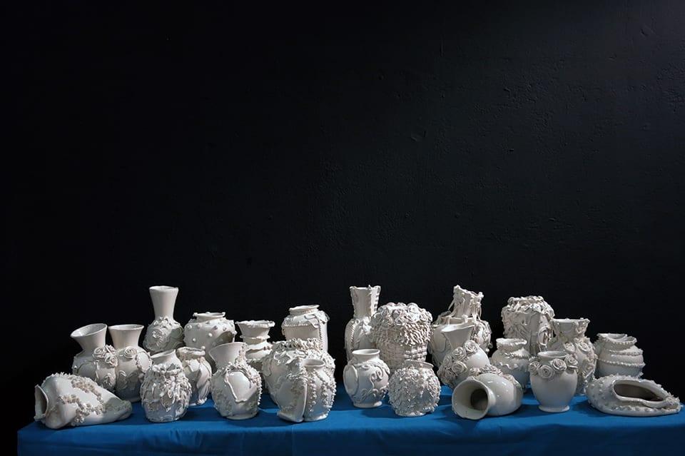 Robert Chamberlin, Installation view Volta NYC,  Various Empty Vessels, 2014