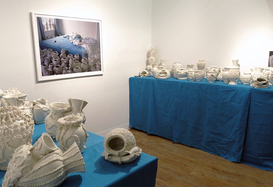 Robert Chamberlain, Installation view Volta NYC,  Various Empty Vessels 2014