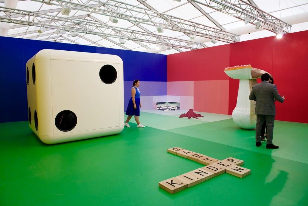 Carsten Höller, Gartenkinder, installation, dimensions variable, 2014 © of the artist and Gagosian Gallery