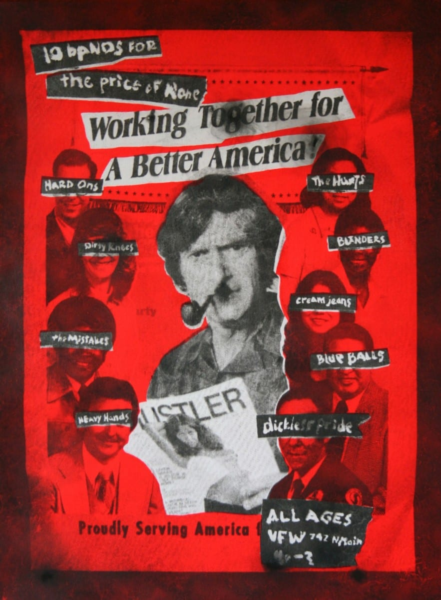 "Rob Tarbell, A Better America, smoke, acrylic on canvas, 32"" x 24"", 2013"