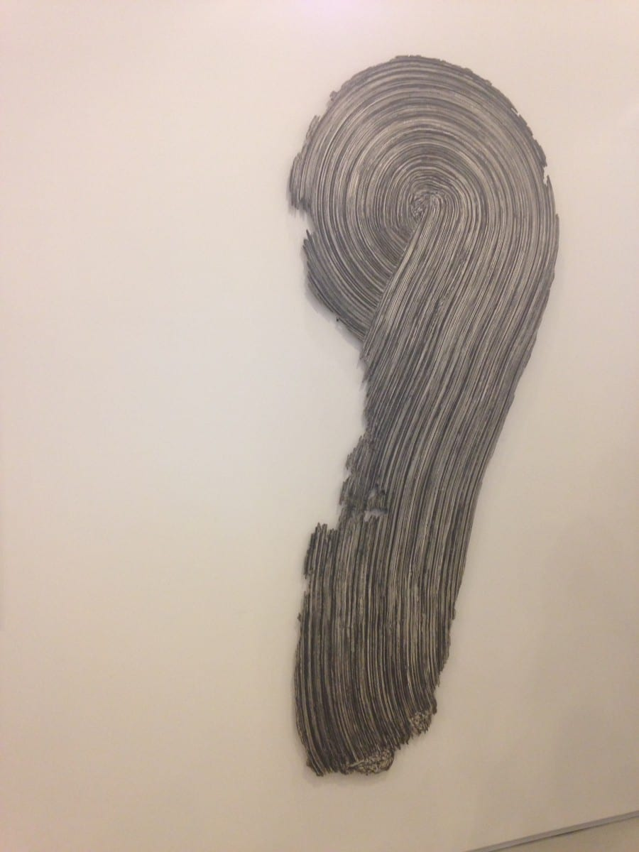 """Rosemarie Castoro St., Gesso and graphite on masonite, 94"""" x 42"""", 1972.   Courtesy of the artist and Broadway 1602, New York"""