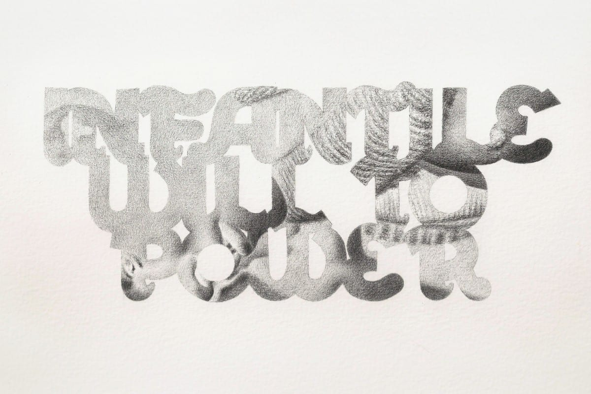 Eric White_Infantile Will To Power_2012_graphite on paper_6 x 9 in_15 x 23 cm_2700