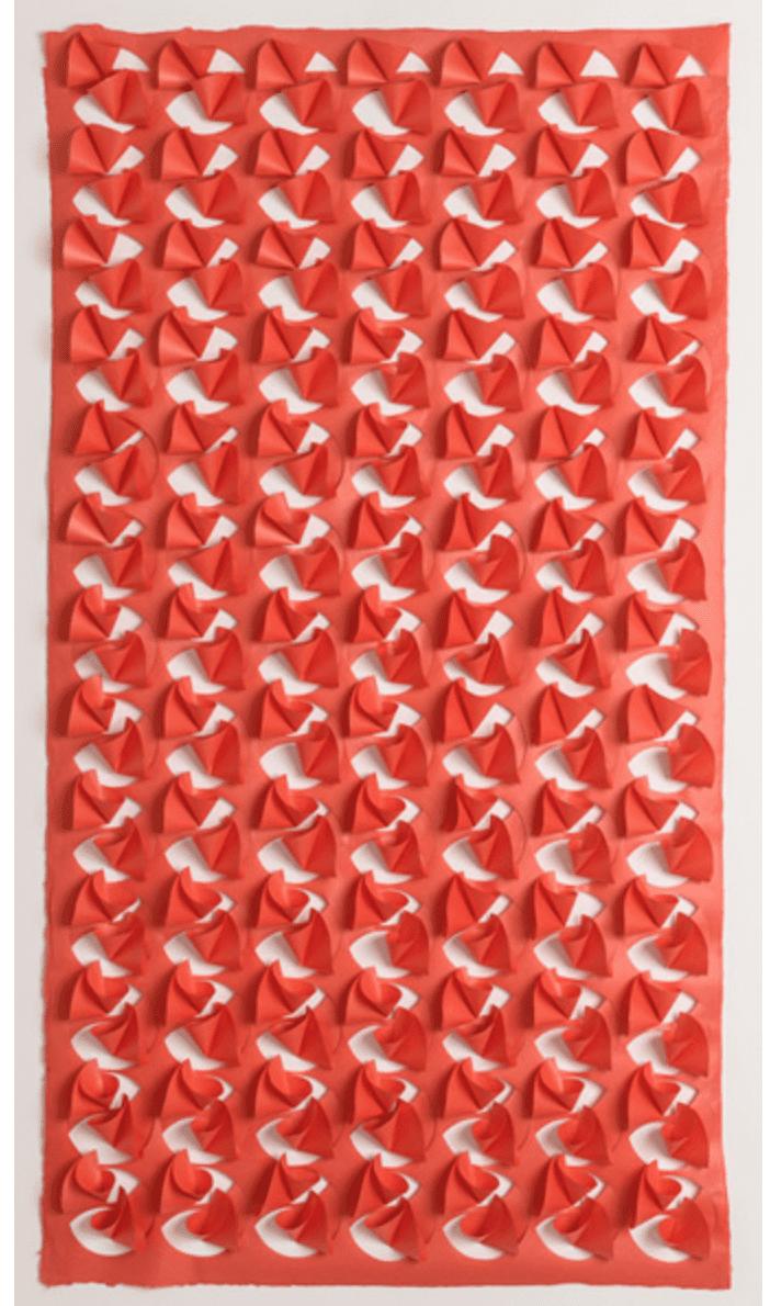 "Liz Jaff, The Good Boy, , hand-cut paper, 77"" x 43"" x 3 ½"" (2m x 1m x 9cm), 2014."
