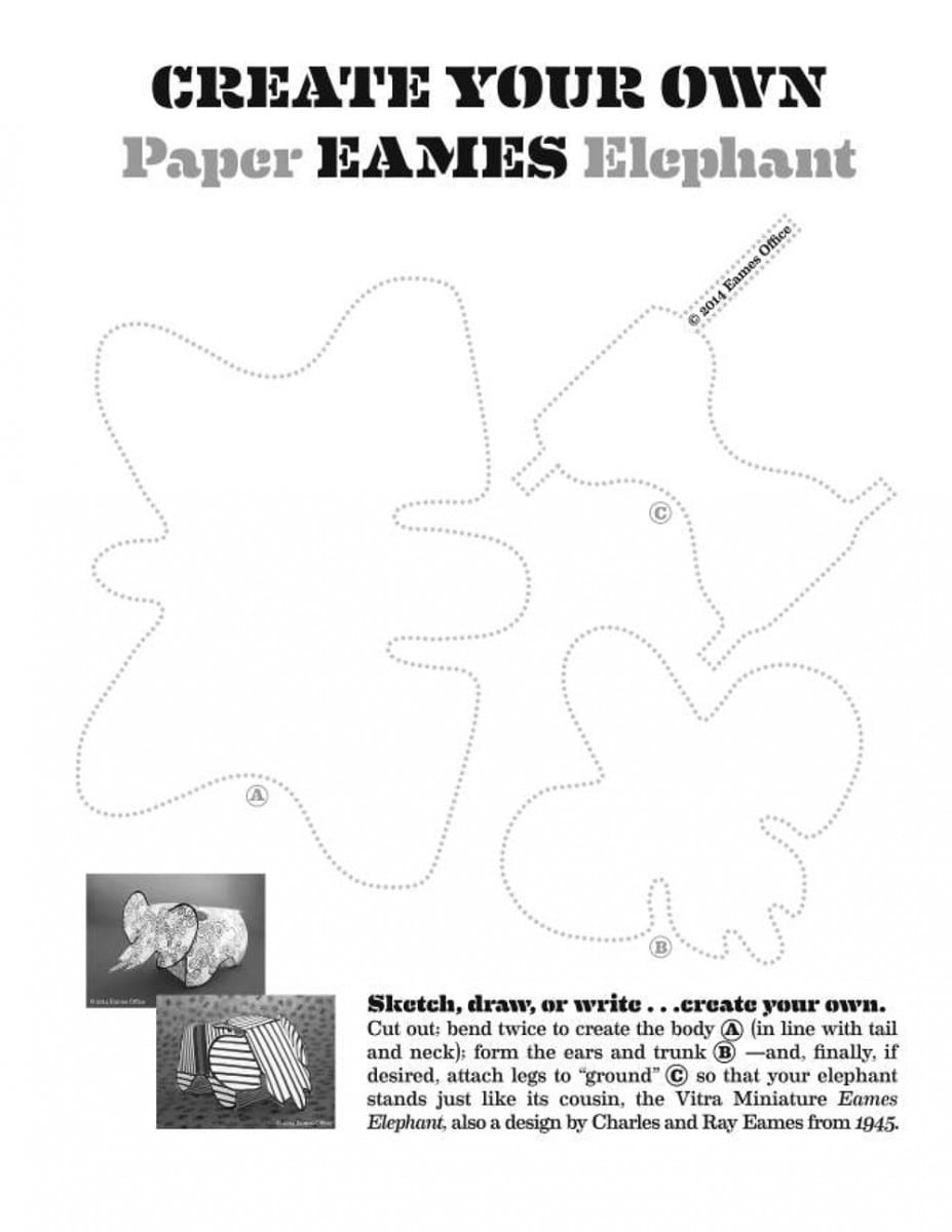 Outline of the Eames Elephant, Charles and Ray Eames  © Eames Office LLC