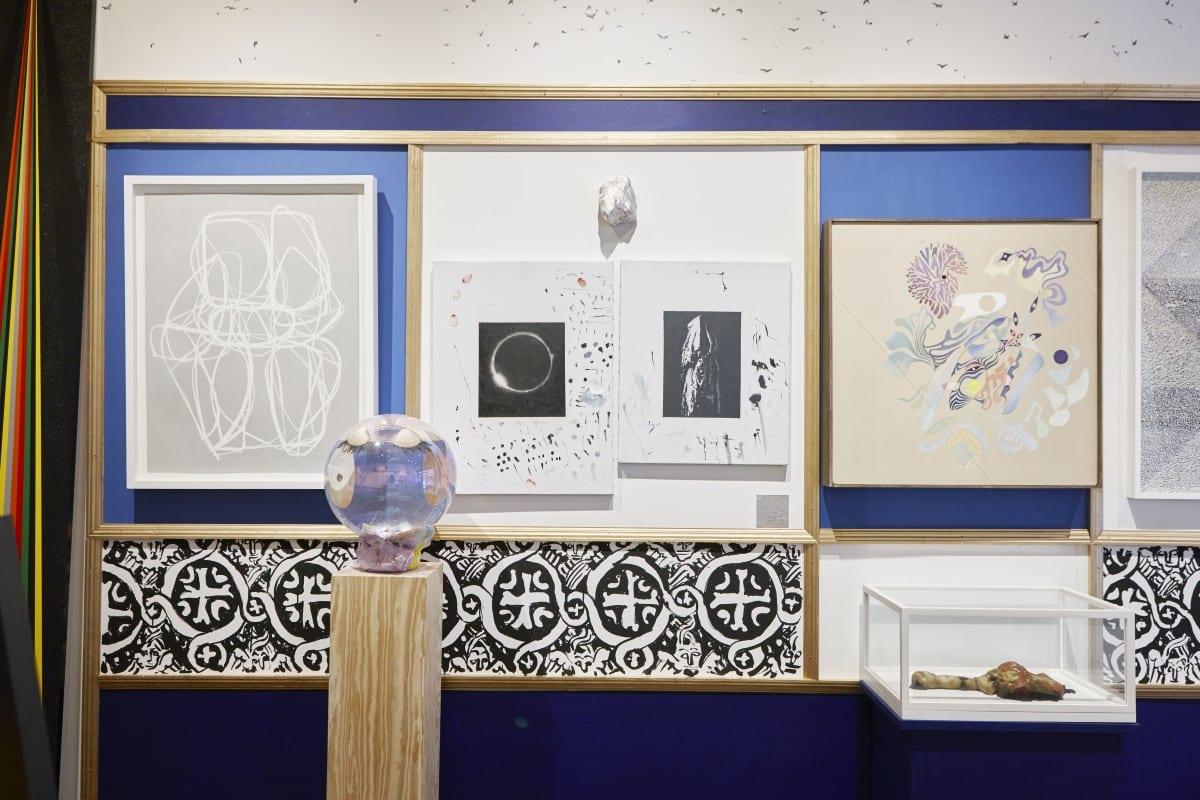 East Wall; Carin Riley, Elisabeth Kley (wall painting), Elizabeth Ferry, Gail Stoicheff, Justin Orvid Steimer, Roxy Paine.