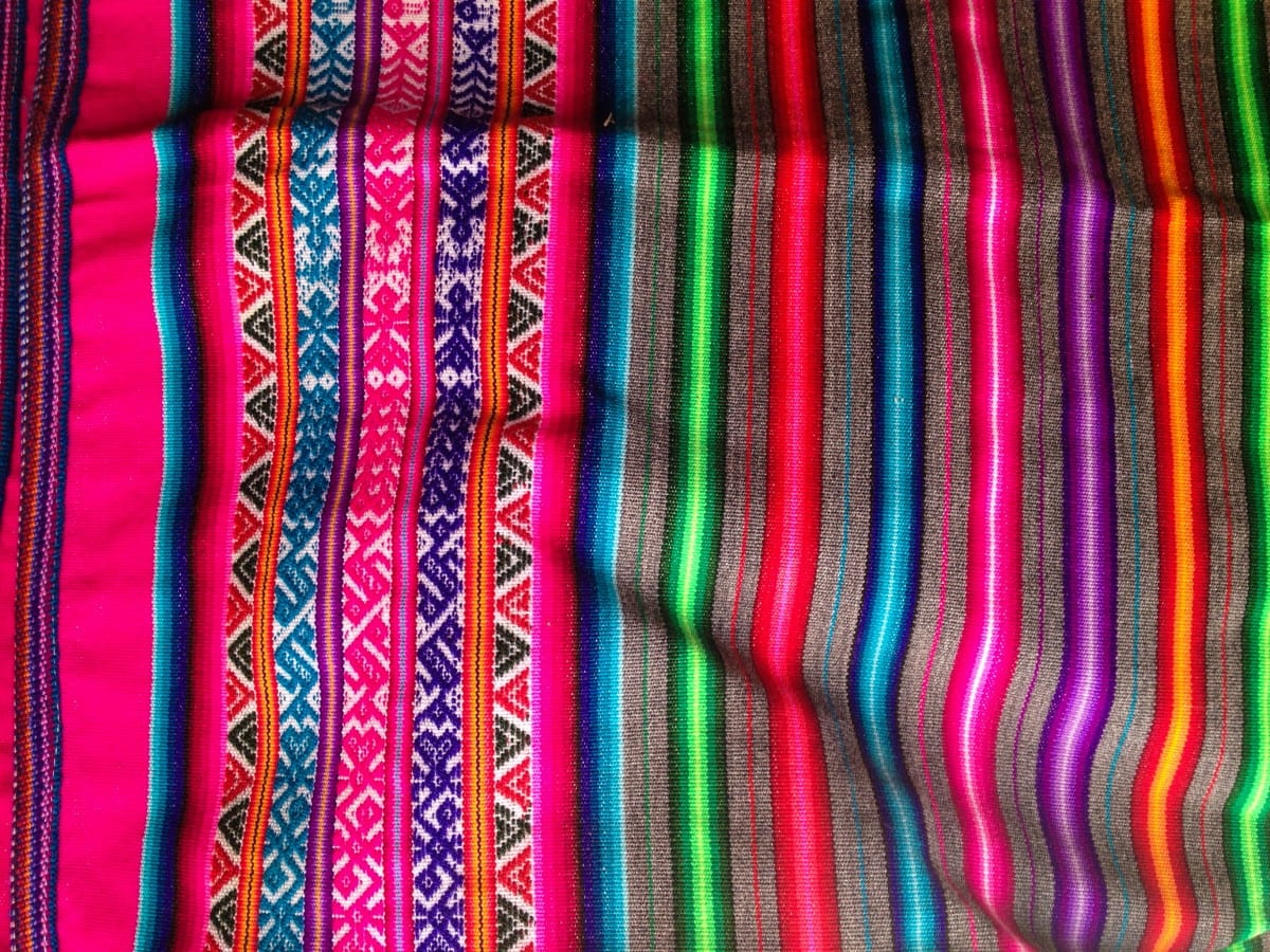 The intricacy of Peruvian textiles.  Photo by Jared Aufrichtig.