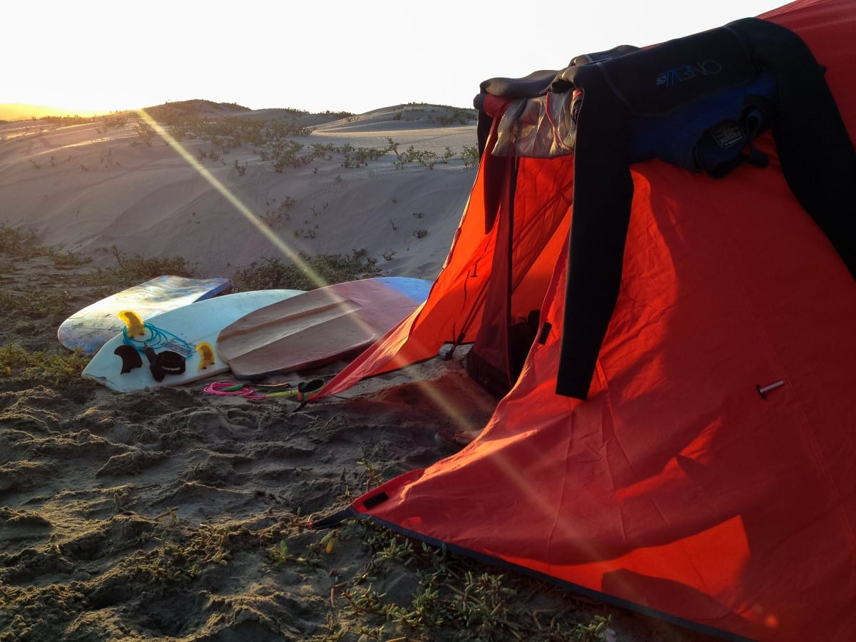 Camping Con Tres Tablas.  Photo by Jared Aufrichtig.