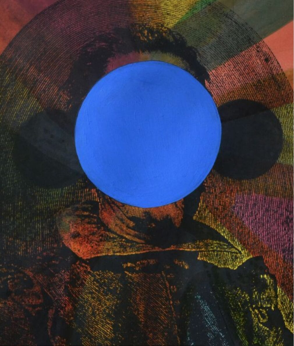 Lado Pochkhua, Untitled from Series Enigma of David G,  Mixed Media, 29 x 20 cm, 2015.
