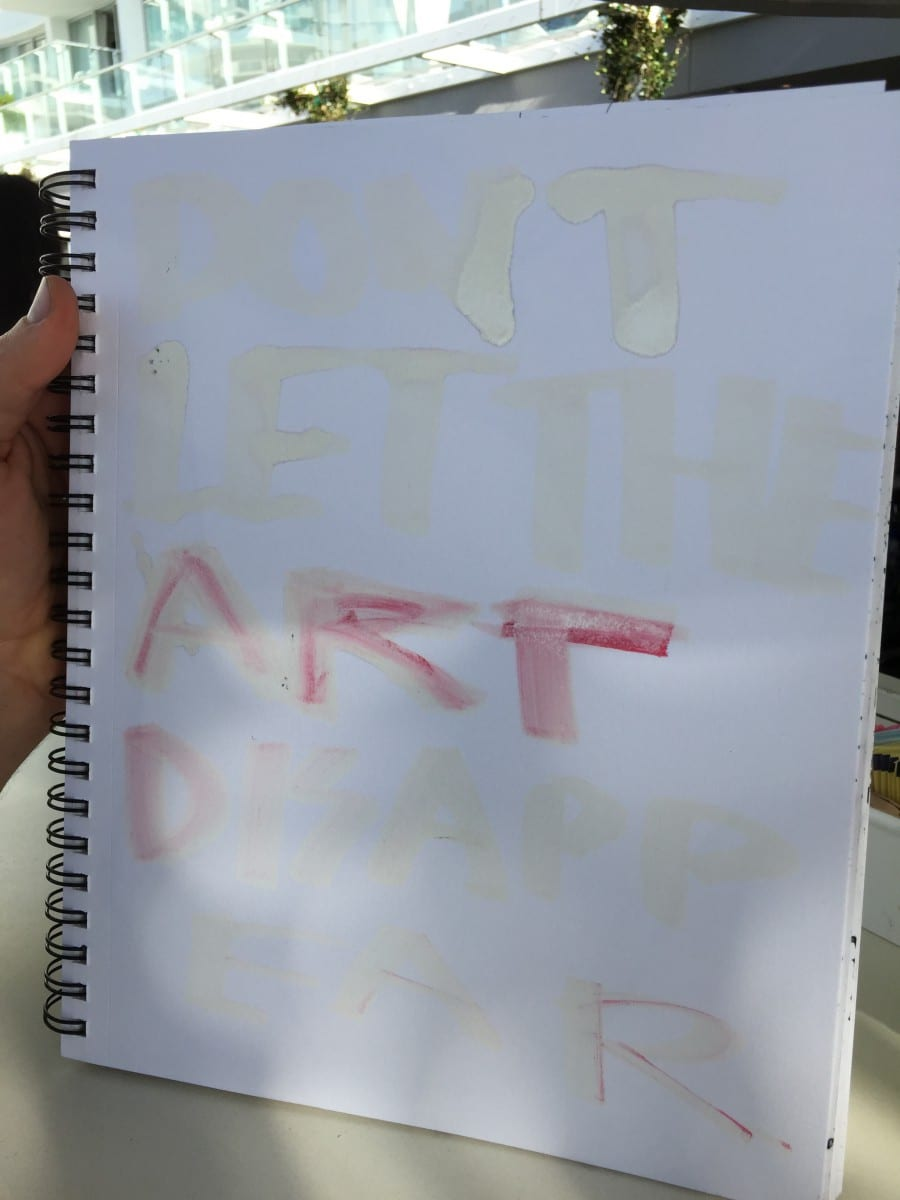 """""""Never Let the Art Disappear,"""" drawing by Gregory Siff."""