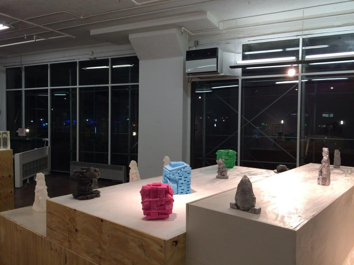 "Installation picture ""Champollion,"" view of the ziggurat"