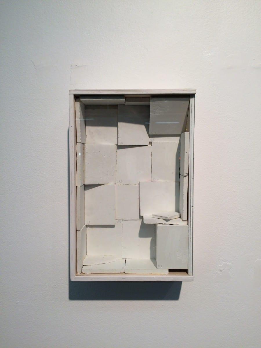"Mihrab 3"",  plaster graphite and vignette box, 2011."
