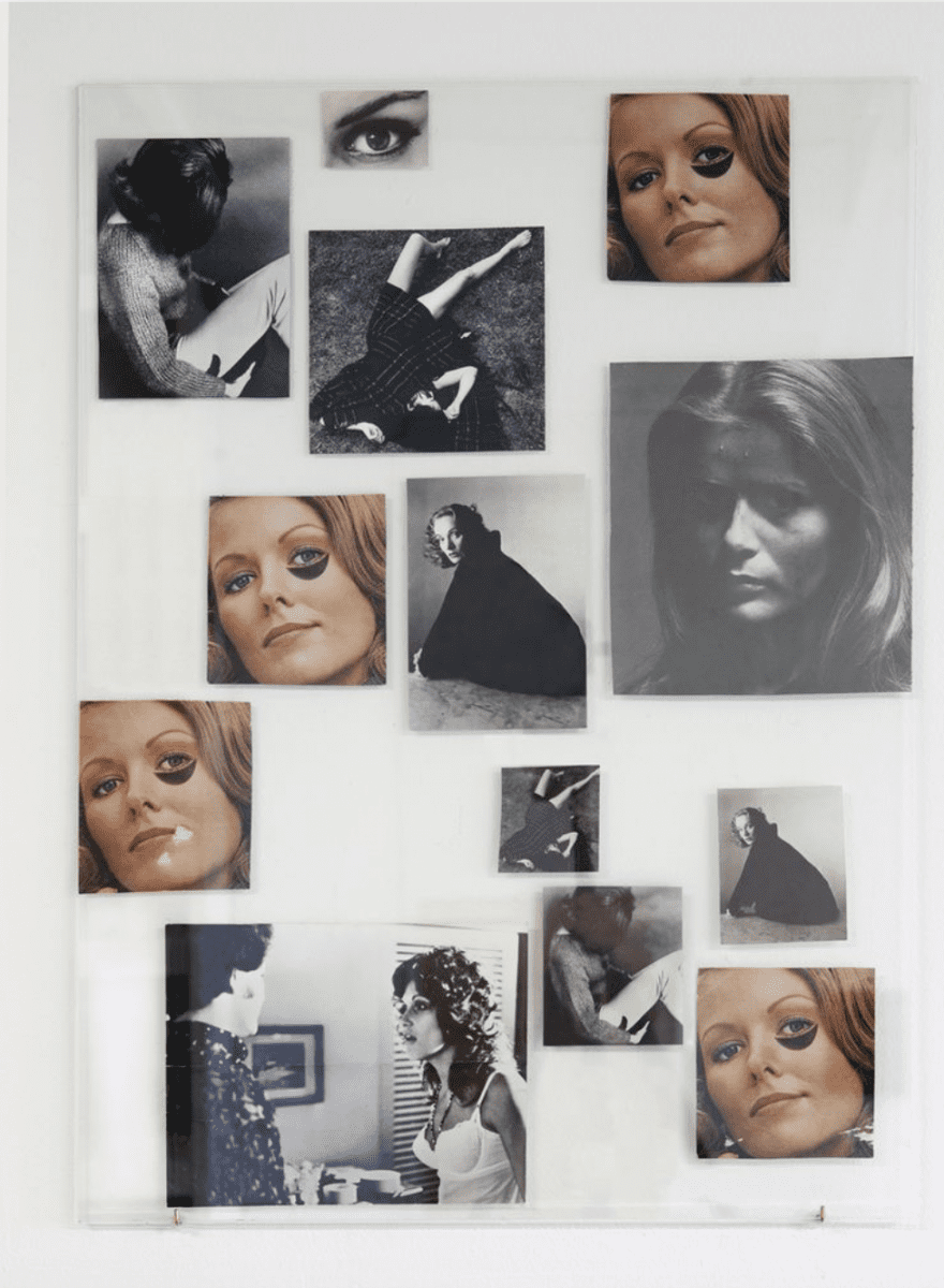 Carmen Winant, Healing Your Emotional Self 1, 2015, collage, 24 x 38 in, Courtesy of Fortnight Institute.  Image © of the artist and Fortnight Institute.