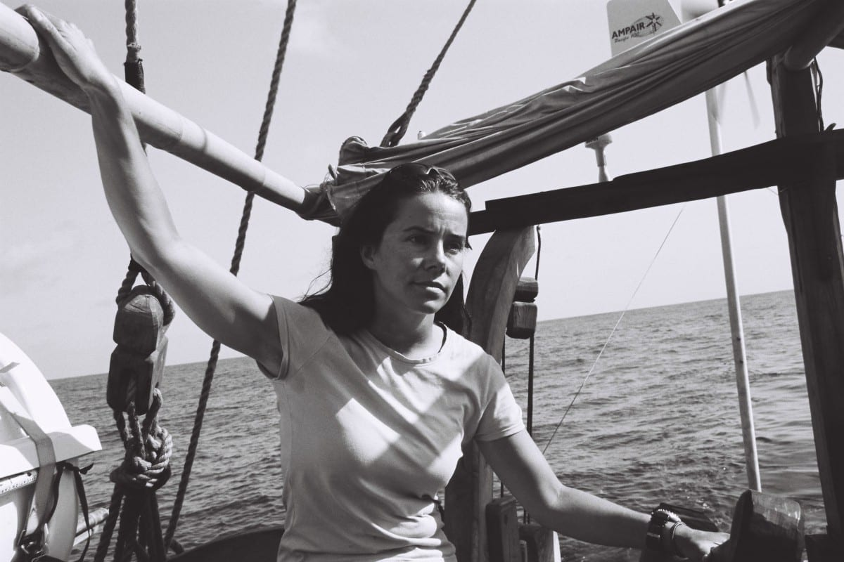 Danielle Eubank aboard The Borobudur Ship, 2003. Credit: unknown