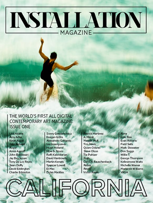 "Debut issue titled ""California.""  Cover photographed by Keegan Gibbs."
