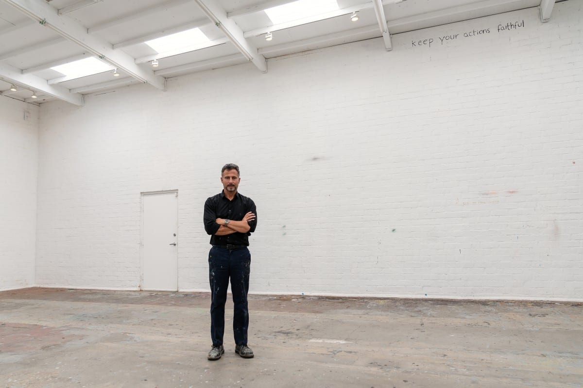 """Keep Your Actions Faithful. "" Enrique Martínez Celaya in his Los Angeles studio. Image © Rainer Hosch."